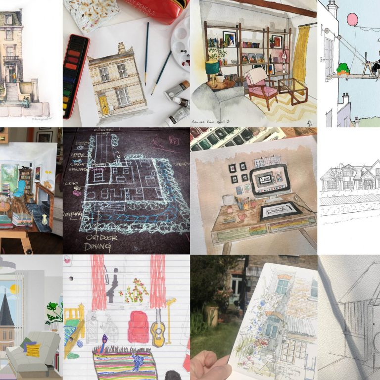 Team Assael sketch their homes